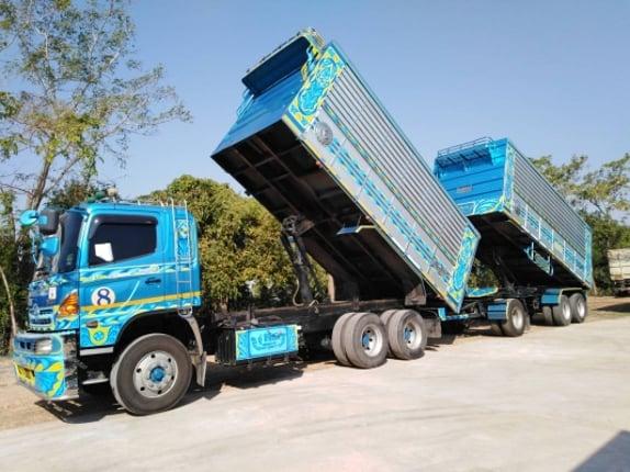 ขายฮีโน่ 344 แรงม้า  ปี57   พ่วงแม่ลูกดั้ม  ใส่ของได้ 30 ตัน     สวยๆ    ขาย 2,450,000   บาท   เจ้าของขายเอง - Truck2Hand.com