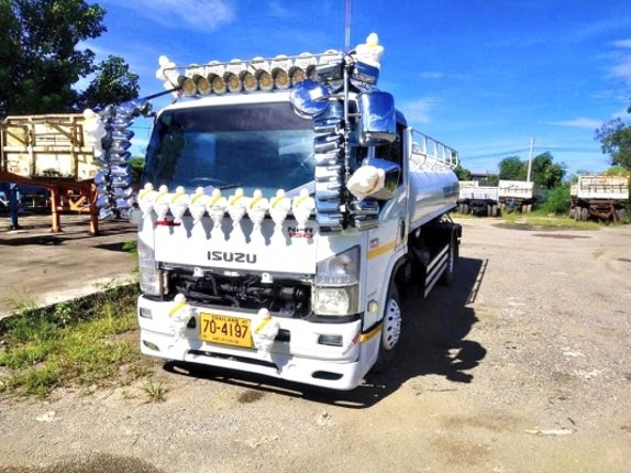 """780,000""""Isuzu NPR 150 แรงปี 55 รถสูบสิ่งปฏิกูล สภาพดีเครื่องดีหัวบางยางดีพร้อมใช้ - Truck2Hand.com"""