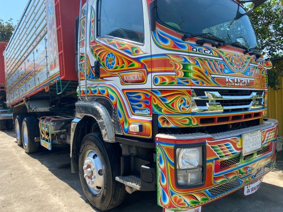 FXZ360 ปี 57 รถสวย สีเดิม ๆ กระบะมิเนียมคอกเกษตร อู่ซุ่นชัย ใส่ของได้ 29.2 ตัน - Truck2Hand.com