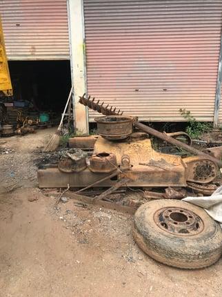 เฟรมรถแบคโฮ โคมัสสุ PC60-5 สนใจติดต่อโทร 062-171-1727 - Truck2Hand.com
