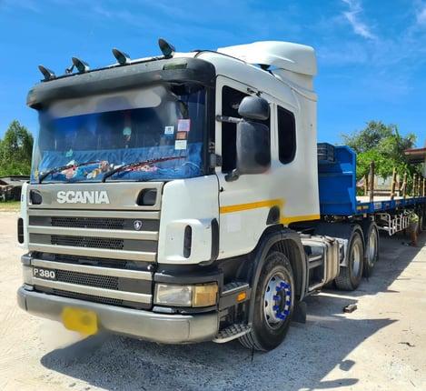 ขายหัวลากscania380ปึ49 พร้อมหางพนัสปี51 - Truck2Hand.com