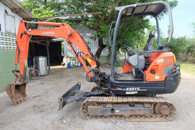 Kubota kx91-3s2 สีเดิมๆทั้งคัน สวยพร้อมทำงาน โทร 086-1602189 - Truck2Hand.com