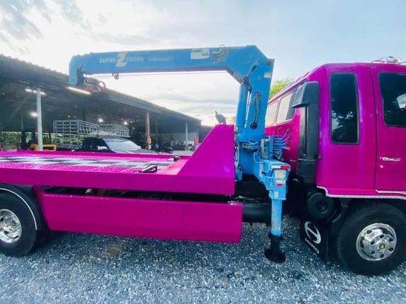 ⛽081-7560304❣รถสใลติดเครน 3.6ตัน HinFD70-185แรง - Truck2Hand.com