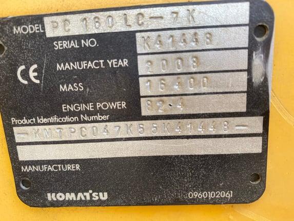 รถแบคโฮ Komatsu pc160-7  - Truck2Hand.com